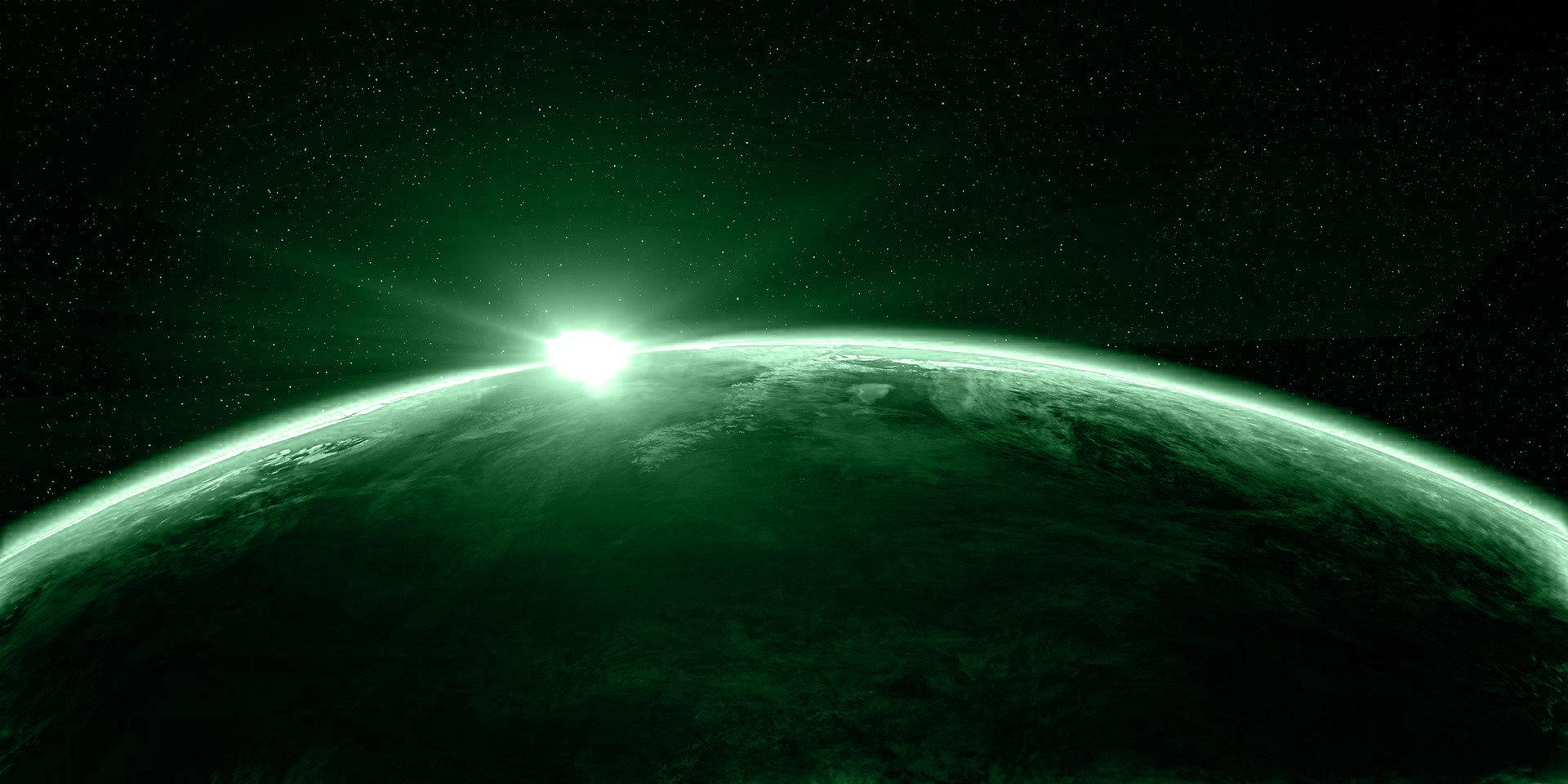 Vista de un amanecer desde el espacio